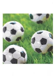 20 Serviettes ballons de foot