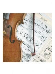 20 Serviettes violon et note de musique