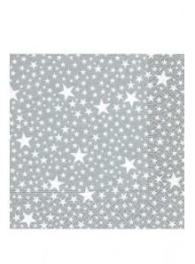 20 Serviettes milliers étoiles ARGENT