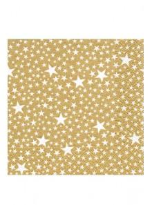 20 Serviettes milliers d'étoiles OR