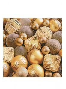 20 Serviettes décors d'or