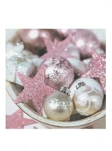 20 Serviettes étoiles rose