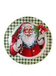 10 assiettes Père-Noël