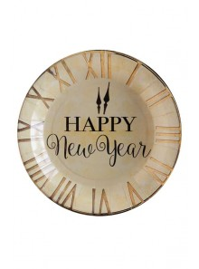 10 assiettes Happy New Year