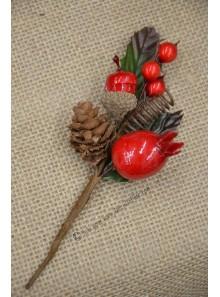 1 pic NOEL baies rouges
