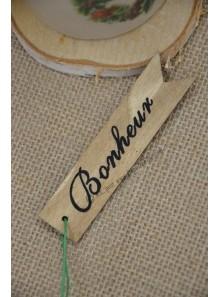 1 marque-place Bonheur bois