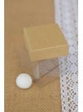 10 petits cubes transparent et KRAFT