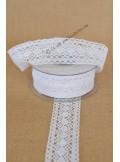 10M dentelle blanche LOUISE 40mm