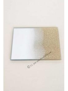1 miroir carré LOUISE or 10 CM