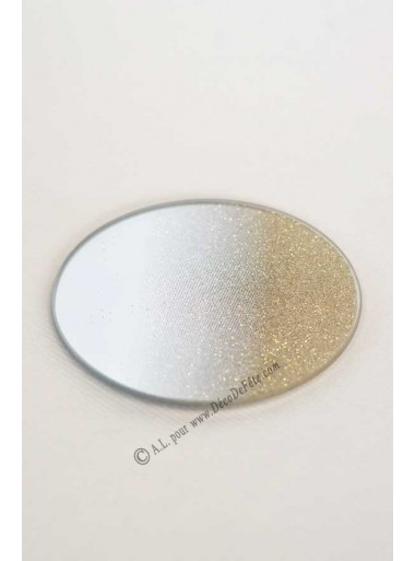 1 miroir rond LOUISE or 10 CM