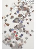 25g Confettis mini étoiles argent