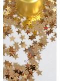 25g Confettis mini étoiles or