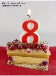 1 Bougie anniversaire chiffre 8