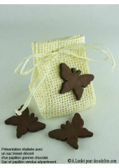 15 Papillons gomme chocolat