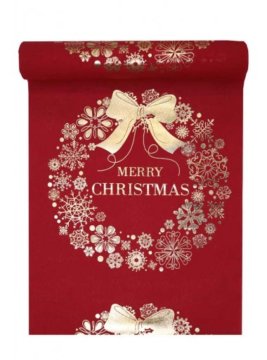 3M chemin MERRY CHRISTMAS ROUGE