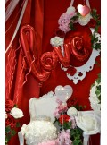 1 ballon LOVE rouge