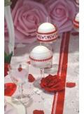 15m Ruban cœurs rose