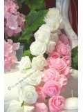 1 liane de rose sucre BLANC