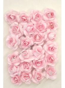 24 mini Roses papier rose