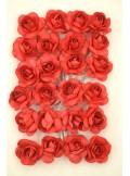 24 mini Roses papier rouge
