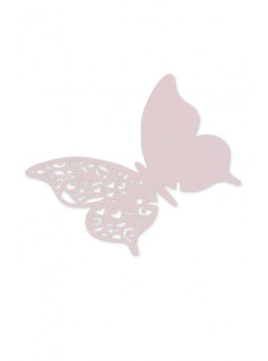 10 marque-verres papillon ROSE