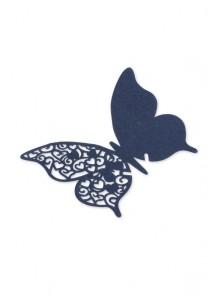 10 marque-verres papillon MARINE
