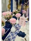 1 bouquet de 8 roses mousse roses