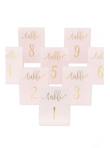10 marque-table ROSE et or