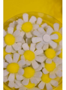 18 Stickers Marguerites blanches