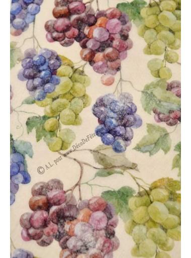 5M Chemin de table guirlande de raisins