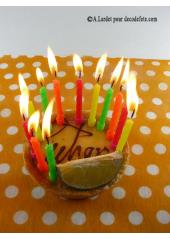12 Bougies anniversaire punchies