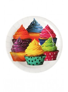 10 Assiettes carton CUP CAKE