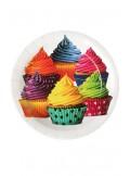 10 Assiettes carton CUP CAKE