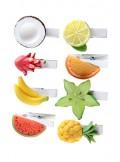 8 Pinces fruits exotiques