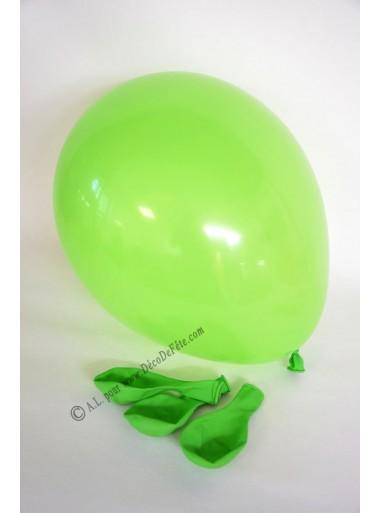 8 ballons vert pomme biodégradables