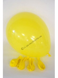 8 ballons jaune biodégradables