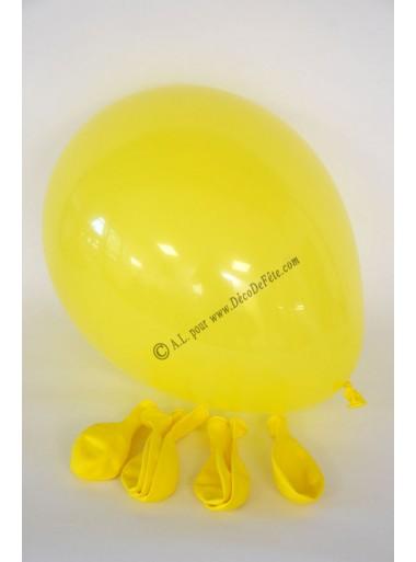 8 ballons jaune biodégradables