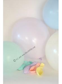 10 ballons pastel biodégradables
