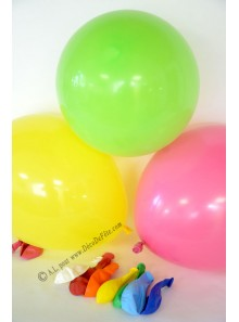 8 ballons multicolores biodégradables