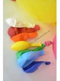 8 ballons multicolores biodégradables