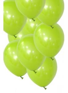 50 ballons vert pomme biodégradables