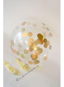 3 BALLONS confettis OR