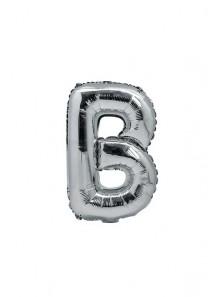 1 ballon fun LETTRE B ARGENT