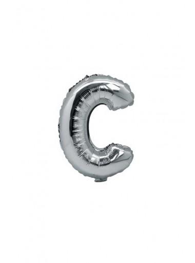 1 ballon fun LETTRE C ARGENT