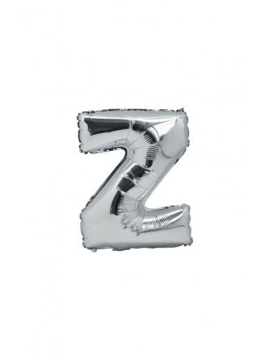 1 ballon fun LETTRE Z ARGENT