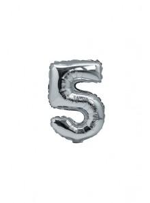 1 ballon funny CHIFFRE 5 ARGENT