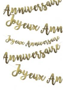 1 guirlande JOYEUX anniversaire OR