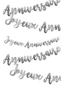 1 guirlande JOYEUX anniversaire ARGENT
