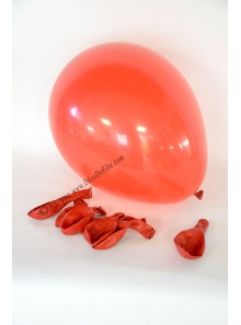 8 ballons rouges biodégradables