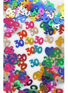 Confettis métal 30 ans